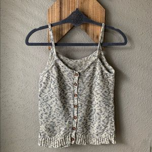 Madewell | Button Back Sweater Tank | Like New